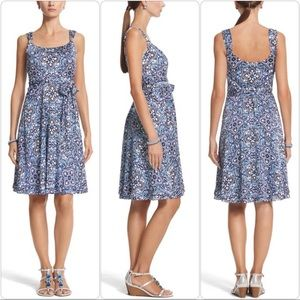 WHBM Sleeveless Fit & Flare Silhouette Dress 6